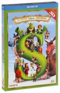 NEW 5 Blu-ray 3D Box Set Shrek 3D: The Complete Collection Whole Story + Bonus
