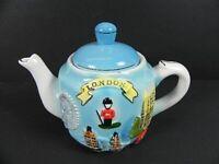 London Tea Pot Teekanne Keramik 17 cm,England Souvenir,Tower Bridge,Big Ben,New