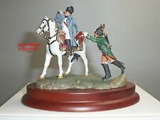 NAPOLEON BONAPARTE MOUNTED ON HORSE WITH WOODEN PLINTH METAL TOY SOLDIER SET