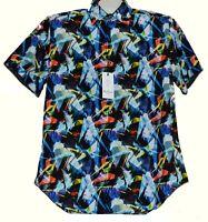 Robert Graham Multicolor Geometric Men's Classic Fit Cotton Shirt Size M NEW
