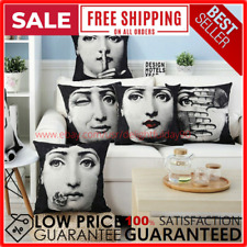 Pillow Case Vintage Style Cotton Linen Cushion Cover Fornasetti Art Home Decor