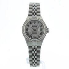 ROLEX DATEJUST 26MM 6517 Silver Diamond Dial & Lunetta BOX/1 anno di garanzia di 1958