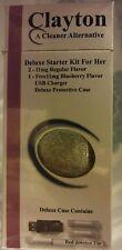 NEW E-Cigs: Cases - Clayton Delux Starter Kit for Her w Red Jewled Tip/Slvr Hldr
