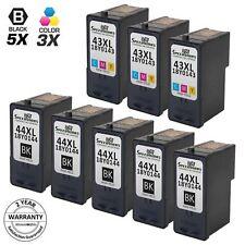 8pk for Lexmark 44XL 43XL Black & Color Ink Cartridge 18Y0144 18Y0143 X9350 4875