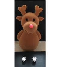 AVON Stud Earrings in Reindeer Box -NEW & BOXED