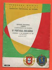 Orig.PRG      EM Qualifikation  17.12.1967   PORTUGAL - BULGARIEN  !!  SELTEN