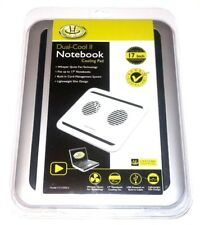 "Gear Head Dual-Cool Notebook Cooling Pad Up to 17"" Silver/Black Model: CF3100SLV"