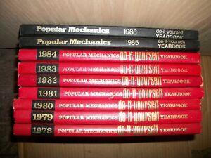 popular mechanics do it yourself yearbook 1978 - 1986