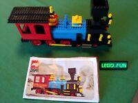 LEGO® 396 Thatcher Perkins Lok 1976 OBA / Locomotive 396 + instruction RARE