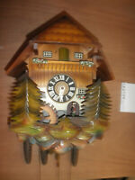 Cuckoo Clock German SEE VIDEO Black Forest  Musical Chalet 1 Day CK2744