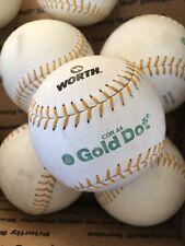 8 Worth Super Gold Dot 44/375 Classic Slow Pitch Softballs New