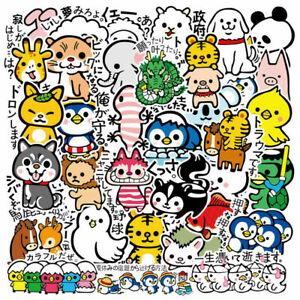 36Pcs Cute Cartoon Animal Stickers Bomb Laptop Skateboard Luggage Decal Pack Lot