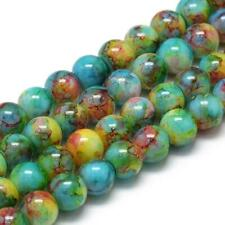 50 Speckled Glass Beads 6mm Assorted Lot Mixed Bulk Jewelry Supplies Rainbow