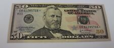 2004 Fifty Dollar Star Note Dallas $50 Crisp Uncirculated from BEP Pack
