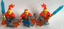 3 lego fantasy FLAME KNIGHTS mini figures - parts from LEGO sets pirate heavy