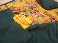 VTG ARIZONA Sportsman Sleeping Bag Camp Flannel Deer Duck Hunting Green w/sleeve