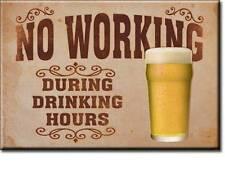 Bier und Arbeiten USA Bar Kneipen Magnet Magnetschild