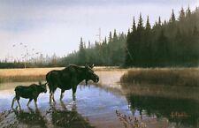 Little Moose Creek S/N print by LES KOUBA