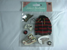 "Jolee's Boutique ""Alternative Boy""(Video Game/Vans) 7 pc Dimensional Sticker #T3"
