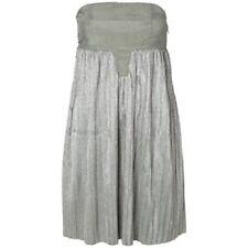 Vero Moda Very RRP £60 Silver Grey Bandeau Anna Pleated Dress UK 12 Eur 40 BNWT!