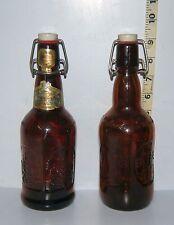 Lot of 2 Vintage Grolsch Commerative 1986 Reusable Brown Beer Bottles EMPTY