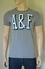 NUOVO Abercrombie & Fitch AMPERSAND Mountain Grey A&F GRAPHIC T-SHIRT TEE XXL