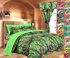 1 pc Full Size Biohazard Green Woods Camo Comforter