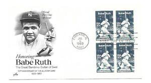 2046 Babe Ruth ArtCraft block iof 4 FDC