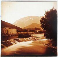 Quillan Aude Francia Foto Stereo PL58L31n9 Placca Lente c1900