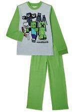 Boys MINECRAFT 2 Piece Pajama Sleep Set 6/7 8 10/12 14/16 NWT Flame Resistant