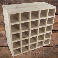 Square 25 Bottle Wooden Wine Rack Cellar Storage Holder Unpainted Natural Pine