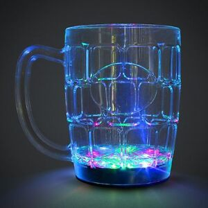 1x LED Flashing Pint Cup - Party Drinking Wedding Father's Day Glass Dad