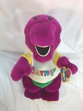 Vintage Barney the Purple Dinosaur Plush w/Original T-Shirt -1992 - Dakin Tags