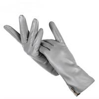 Genuine Women's Leather Gloves Warm Sheepskin Cashmere Lining Soft Wrist Mittens