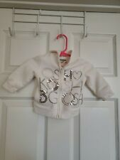 Oshkosh Infants White Zipper Hoodie W/Silver Sequins Size 6 Mos.