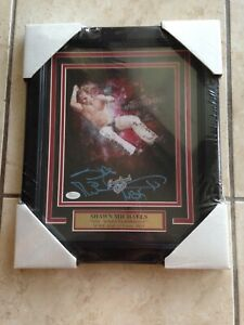 Shawn Michaels HBK Mr Wrestlemania WWF Signed Authentic Framed 8x10 Photo JSA DX