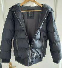 Spindle Boys Black Puffa Jacket Padded Winter Coat Fleece Lined Age 13-14