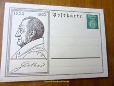 EBS Germany 1932 Postal Card Goethe 6 Pfennig P213 Unused
