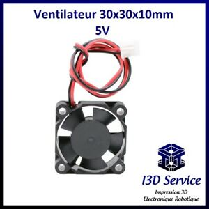 Ventilateur 3010 axial 30x30x10mm 5V - Idéal montage Arduino, Raspberry etc..