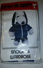 NIB Vintage Clothes 20' Snoopy 1958 Jogging Outfit for Plush Snoopy Doll ■RARE■