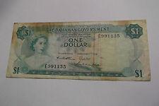 1965 BAHAMAS $1 DOLLAR NOTE