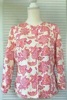 Sigrid Olsen Designer Jacket Blazer Women's Size 10 Paisley Floral Snap Lined