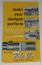 Poly-Choke Adjustable Shotgun Choke Booklet! Nice See!