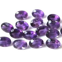 Wholesale Lot 7x5mm Oval Cut Natural African Amethyst Loose Calibrated Gemstone