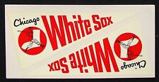 CIRCA 1960s CHICAGO WHITE SOX PENNANT WINDOW DECALS FROM GRAFCO DECALCOMANIA