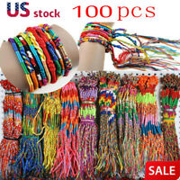 100pcs Jewelry Lot Braid Strands Friendship Cords Handmade Bracelets Wholesale