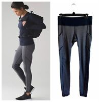 Lululemon Speed Tight V Luxtreme Heathered Black Deep Coal 6
