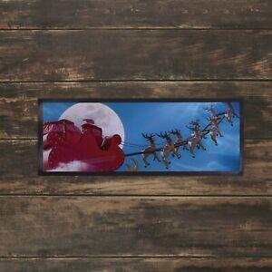 Santas Sleigh Design Christmas Bar Runner Mat Pubs Clubs Parties Decoration Home