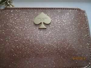 KATE SPADE WALLET IN BOX - GOLD SPARKLES