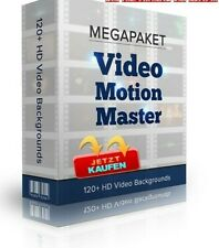 1,92GB VIDEO MOTION MASTERS 120HD Werbe Videos PROFI Samples Clips MARKETING MRR